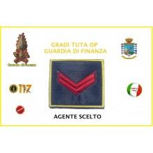 Gradi Velcro per Polo Guardia di Finanza Agente Scelto  GDF 6x6 Art.GDF-OP2