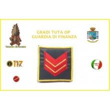 Gradi Velcro per Polo e Tuta OP Guardia di Finanza Appuntato Scelto GDF 6x6 Art.GDF-OP19