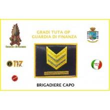 Gradi Velcro per Polo e Tuta OP Guardia di Finanza  Brigadiere Capo GDF 6x6 Art.GDF-OP6