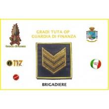 Gradi Velcro per Polo e Tuta OP Guardia di Finanza Brigadiere GDF 6x6 Art.GDF-OP5