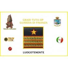 Gradi Velcro per Polo e Tuta OP Guardia di Finanza  Maresciallo Luogotenente GDF 6x6 Art.GDF-OP11