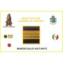 Gradi Velcro per Polo e Tuta OP Guardia di Finanza  Maresciallo Aiutante GDF 6X6  Art.GDF-OP10