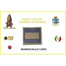 Gradi Velcro per Polo e Tuta OP Guardia di Finanza  Maresciallo Capo GDF 6x6 Art.GDF-OP9