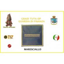 Gradi Velcro per Polo e Tuta OP Guardia di Finanza  Maresciallo GDF 6x6 Art.GDF-OP7
