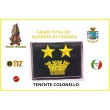 Gradi Velcro per Polo e Tuta OP Guardia di Finanza Tenente Colonello Art.GDF-OP16