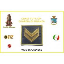 Gradi Velcro per Polo e Tuta OP Guardia di Finanza  Vice Brigadiere GDF 6x6 Art.GDF-OP4