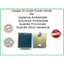 Coppia Gradi Guardie Giurate  Ittiche Venatoria Vigilanza Ambientale Provinciale Agente Art.IT-1