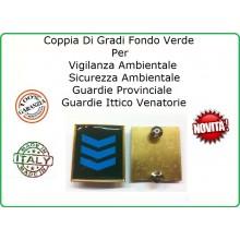 Coppia Gradi Guardie Giurate  Ittiche Venatoria Vigilanza Ambientale Provinciale Assistente Capo Azzurro Art.IT-7
