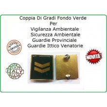 Coppia Gradi Guardie Giurate  Ittiche Venatoria Vigilanza Ambientale Provinciale Assistente Oro Art.IT-5