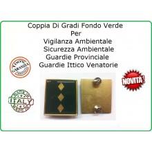 Coppia Gradi Guardie Giurate  Ittiche Venatoria Vigilanza Ambientale Provinciale Ispettore Capo Art.IT-10