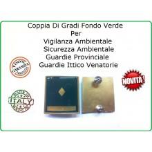 Coppia Gradi Guardie Giurate  Ittiche Venatoria Vigilanza Ambientale Provinciale Ispettore Superiore Art.IT-11