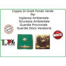 Coppia Gradi Guardie Giurate  Ittiche Venatoria Vigilanza Ambientale Provinciale Sostituto Commissario Art.IT-12