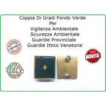 Coppia Gradi Guardie Giurate  Ittiche Venatoria Vigilanza Ambientale Provinciale Vice Ispettore  Art.IT-8