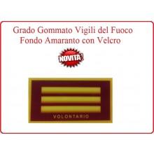 Grado New Pettorale a Velcro Fondo Amaranto Vigili del Fuoco Capo Reparto Volontario Art.VVFF-G10