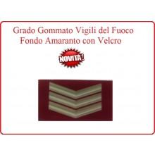 Grado New Pettorale a Velcro Fondo Amaranto Vigili del Fuoco Coordinatore Art.VVFF-G5