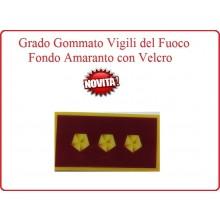 Grado New Pettorale a Velcro Fondo Amaranto Vigili del Fuoco Ispettore Antincendi Esperto Art.VVFF-G14