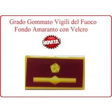 Grado New Pettorale a Velcro Fondo Amaranto Vigili del Fuoco Sostituto Direttore Antincendi Art.VVFF-G15