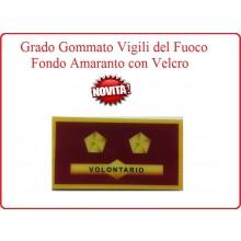 Grado New Pettorale a Velcro Fondo Amaranto Vigili del Fuoco Tecnico Antincendio Volontario Art.VVFF-G17