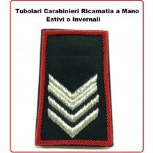 Gradi Tubolari Carabinieri Ricamati a Mano Canuttiglia  New Brigadiere Art.CC-CAN-10