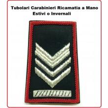 Gradi Tubolari Carabinieri Ricamati a Mano Canuttiglia  New Brigadiere Capo Art.CC-CAN-2