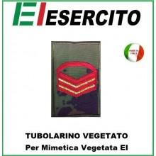 Gradi Tubolarini Vegetati Esercito Italiano Caporam Maggiore Capo Scelto Rosso Art.TUB-CMCSR