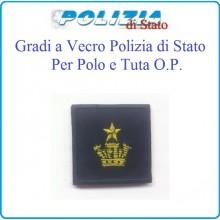 Gradi Tuta Ordine Pubblico Polizia di Stato con Velcro Commissario Capo Art.PSOP13