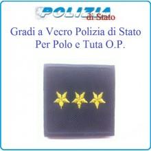 Gradi Tuta Ordine Pubblico Polizia di Stato con Velcro Commissario Art.PSOP12