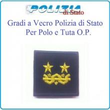 Gradi Tuta Ordine Pubblico Polizia di Stato con Velcro Dirigente Generale  Art.PSOP18