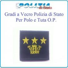 Gradi Tuta Ordine Pubblico Polizia di Stato con Velcro Primo Dirigente Art.PSOP16