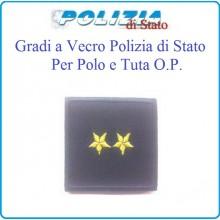 Gradi Tuta Ordine Pubblico Polizia di Stato con Velcro Vice Commissario Art.PSOP11
