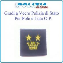 Gradi Tuta Ordine Pubblico Polizia di Stato con Velcro Vice Questore Aggiunto Art.PSOP15
