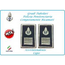 Gradi Tubolari Ricamato Polizia Penitenziaria Sovraintendente Capo Novità Art.NSD-T-PP19