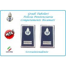 Gradi Tubolari Ricamato Polizia Penitenziaria Sovraintendente Novità Art.NSD-T-PP18