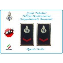 Gradi Tubolari Ricamato Polizia Penitenziaria Agente Scelto Novità  Art.NSD-T-PP14