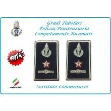 Gradi Tubolari Ricamato Polizia Penitenziaria Sostituto Commissario Novità Art.NSD-T-PP24