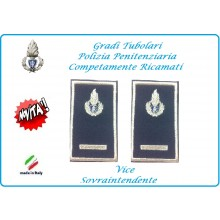 Gradi Tubolari Ricamato Polizia Penitenziaria Vice Sovraintendente Novità Art.NSD-T-PP17