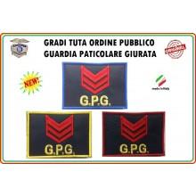 Gradi Velcro per Polo e Tuta OP GPG GPGIPS Sicurezza Appuntato New Art.GPG-G2