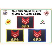 Gradi Velcro per Polo e Tuta OP GPG GPGIPS Sicurezza Appuntato Scelto New Art.GPG-G3