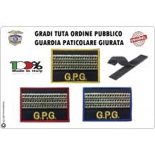 Gradi Velcro per Polo e Tuta OP GPG GPGIPS Sicurezza Maresciallo Capo Argento  New Art.GPG-G11