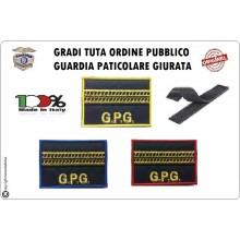 Gradi Velcro per Polo e Tuta OP GPG GPGIPS Sicurezza Maresciallo Ordinario  New Art.GPG-G10