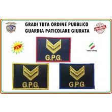 Gradi Velcro per Polo e Tuta OP GPG GPGIPS Sicurezza Vice Brigadiere Oro New Art.GPG-G4