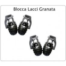 Clip Ferma Lacci a Granata (4 Pezzi) Nera Per Giacca Scarpe Anfibi Art.ALI-GRA