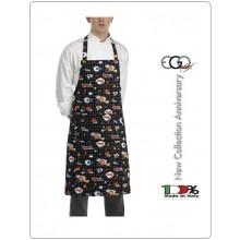 Grembiule Cucina Pettorina con Tascone cm 90x70 Pop Art Art.6103143A