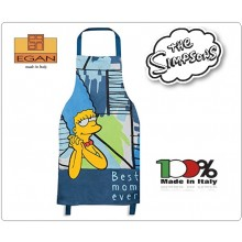 Grembiule con Pettorina Cuoco Chef Originale The Simson Marge Best Mom Over Art.TTS63/05B