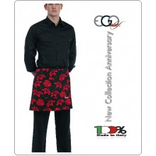 Grembiule Falda Banconiere Con Tascone IBISCUS cm 40x70 Ego Chef Italia Art.700140