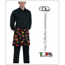Grembiule Falda Banconiere Con Tascone HEARTS cm 40x70 Ego Chef Italia Art.700139