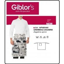Grembiule Falda 70x70 Cuochi Chef Zagabria Fumetto  Giblor's Italia Art.16P08H480