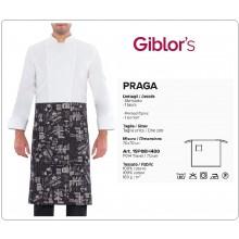 Grembiule Falda 70x70 Cuochi Chef Praga Travel Giblor's Italia Art.19P08H480-T