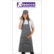 Grembiule Cucina Pettorina con Tascone cm 90x70 69 YNG YANG  Isacco Art.087031