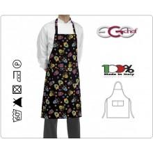 Grembiule Cucina Pettorina con Tascone cm 90x70 Mexico Colorato Ego Chef Italia Art. 6103148A